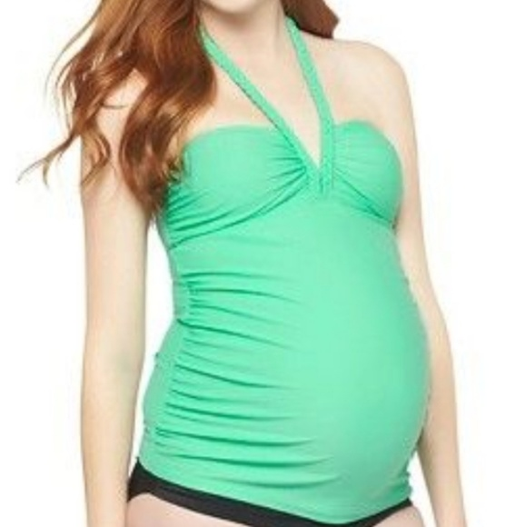 1496f1c6bb8be Liz Lange for Target Other - Liz Lange Maternity Braided Halter Tankini Top